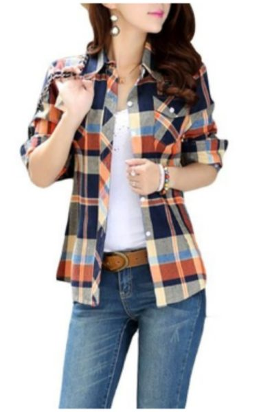 Women's plaid shirt