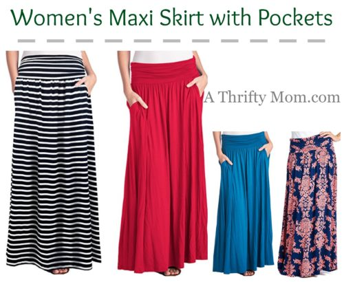 Women's Maxi Skirt with Pockets