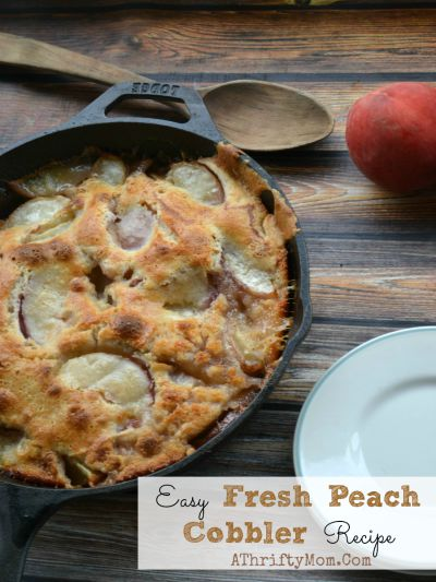 Easy Fresh Peach Cobbler Recipe