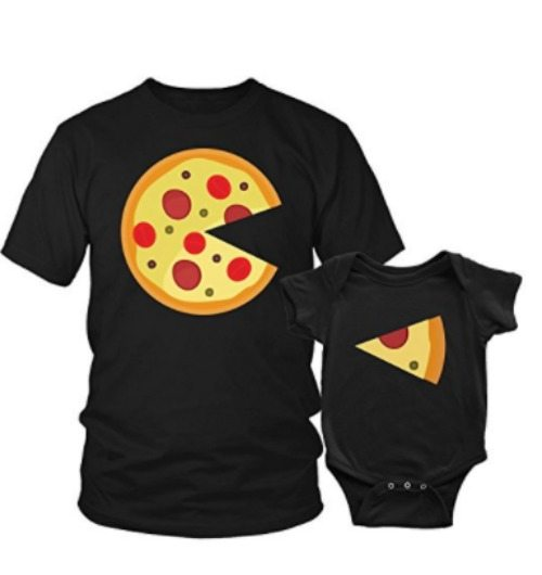 Parent and baby matching shirts