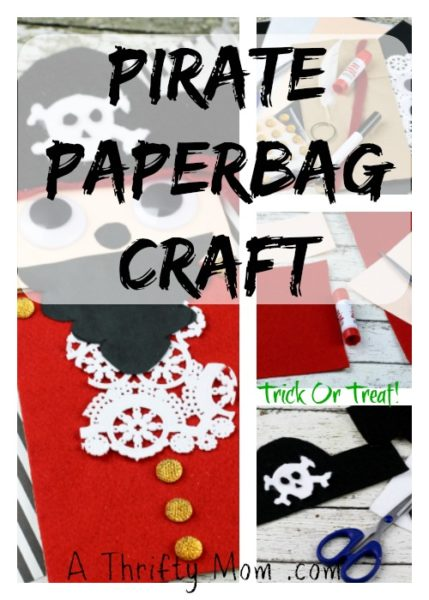 Halloween Bag Pirate Trick or Treat Paper bag craft
