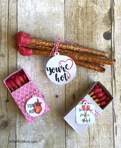 Matchstick Valentines, free printable tags