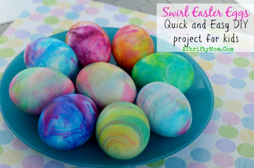 This idea was inspired by a similar recipe for shaving cream easter eggs! We've replaced shaving cream with whipped cream as a medium for awesome tye-dyed eggs! The idea of soaking our food in shaving cream.. just didn't sit well with me.