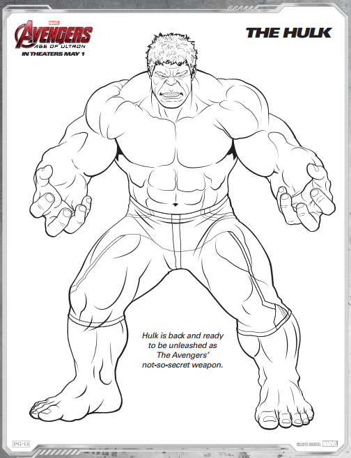 free coloring pages hulk - photo#30