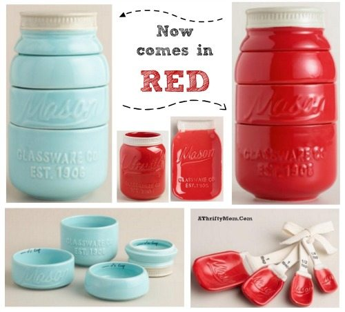 cups now come in teal and red, kitchen decor and gift ideas for mom