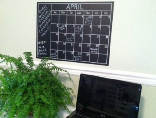 jumbo chalkboard wall calendar, wall sticker, calendar, new year, organized